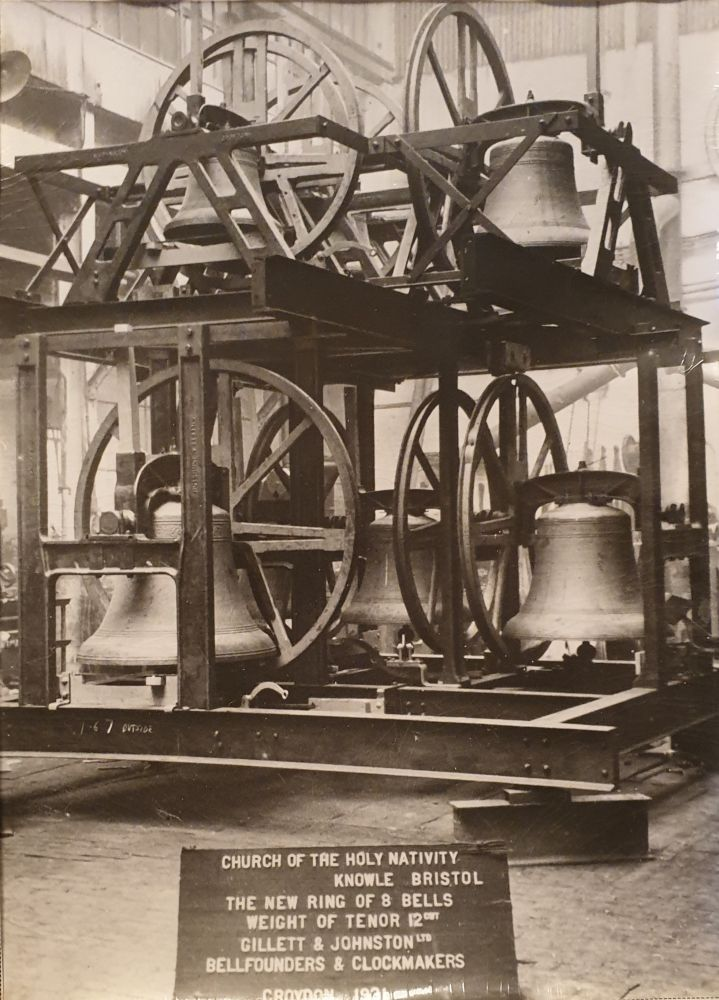 This is peal of bells just after they were made in 1931